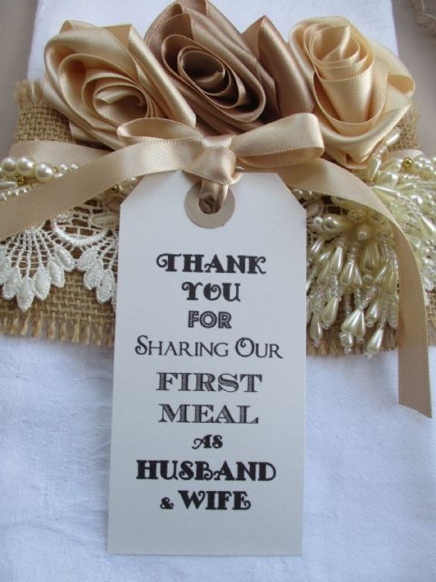 10 Thank You for Sharing Our First Meal as Husband & Wife White